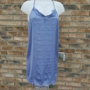 Aerie Periwinkle Eyelash Lace Slip Dress SzM